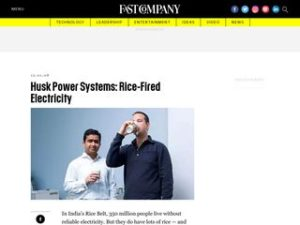 Husk Power Systems – Rice Fired Electricity