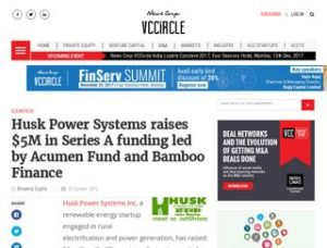 Husk Power raises $5M